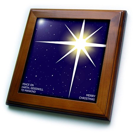 Goodwill Halloween Coupon (3dRose Merry Christmas - Peace on Earth, Goodwill to Mankind - Framed Tile, 6 by)