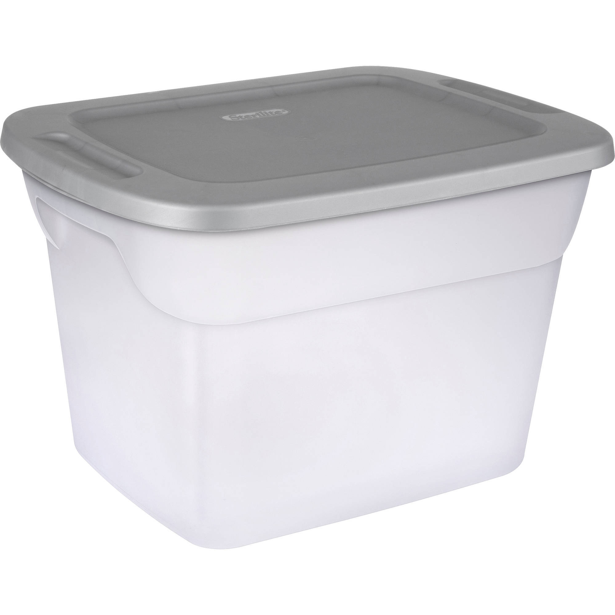 sterilite clear 18gallon 72quart storage box