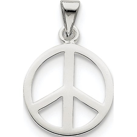 Argent 925 signe de paix (16x24mm) Pendentif / Breloque - image 2 de 2