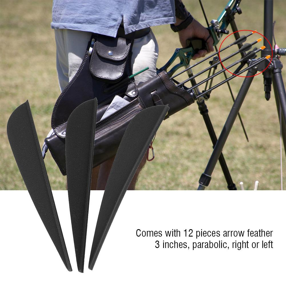 Details about  /12 PCS 3 Inches Feather DIY Arrow Fletching Part for Archery Hunting Shooting