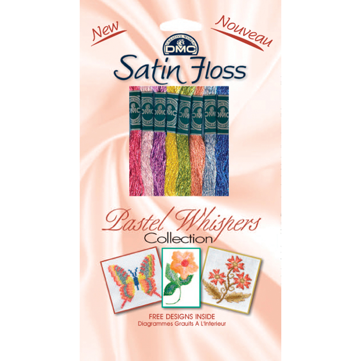 DMC Satin Floss Collection Pack 8/pkg, Pastel Whispers