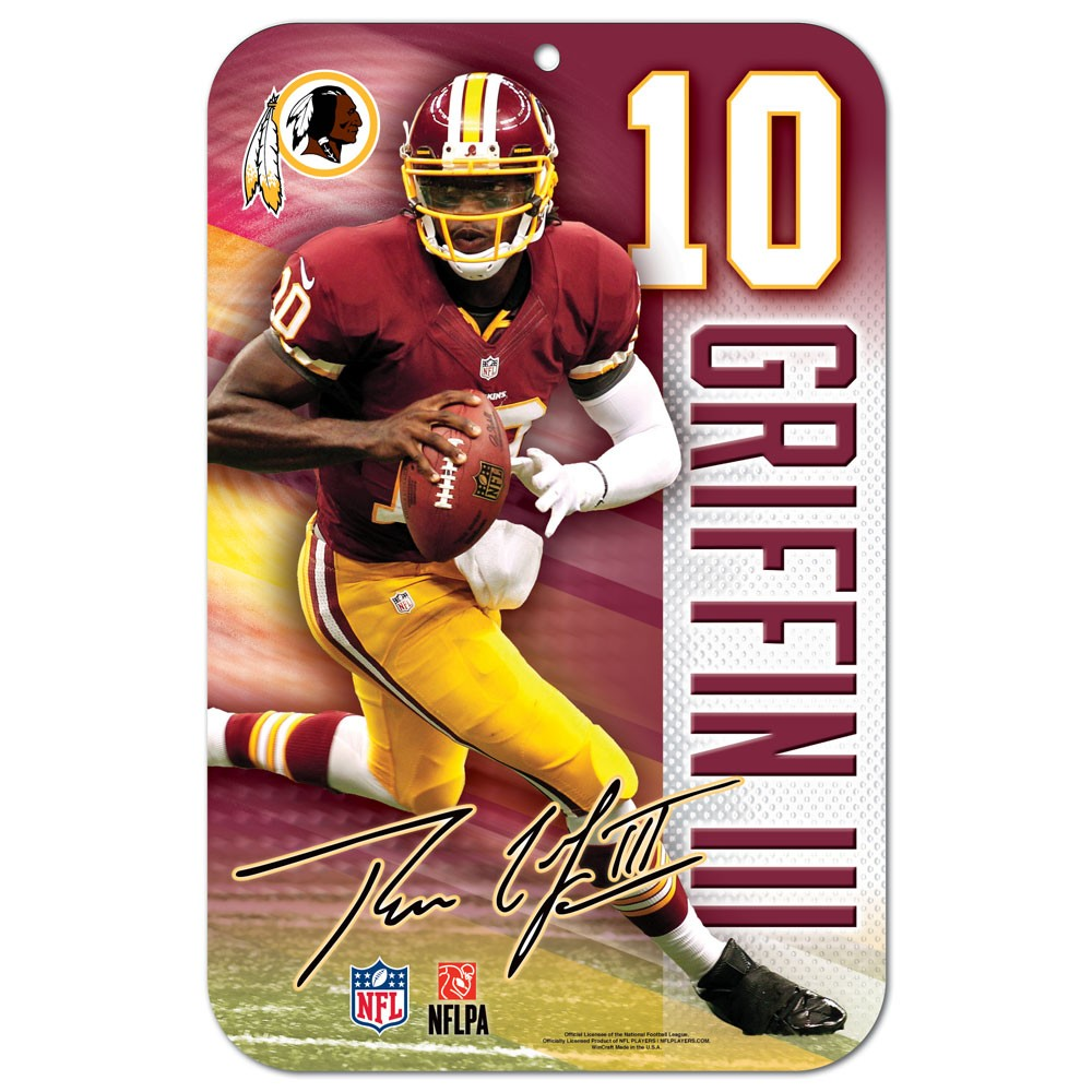 Washington Redskins Official NFL 11 inch x 17 inch  Sign by WinCraft