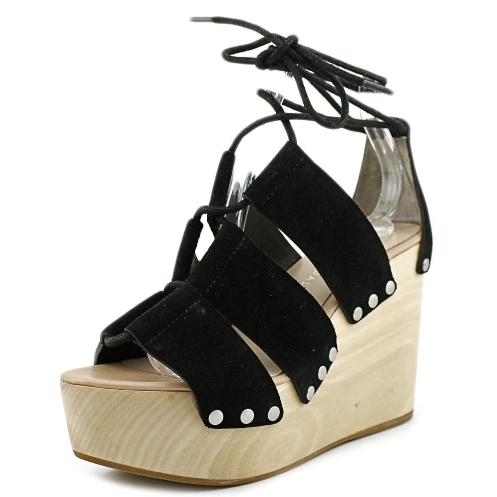 Loeffler Randall Ines Women  Open Toe Synthetic Black Wedge Sandal
