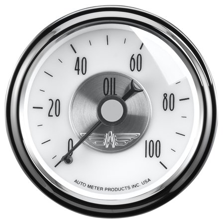 100 Psi Mechanical Oil (Auto Meter 2023 Oil Pressure  - 0-100 PSI - Mechanical - Prestige)