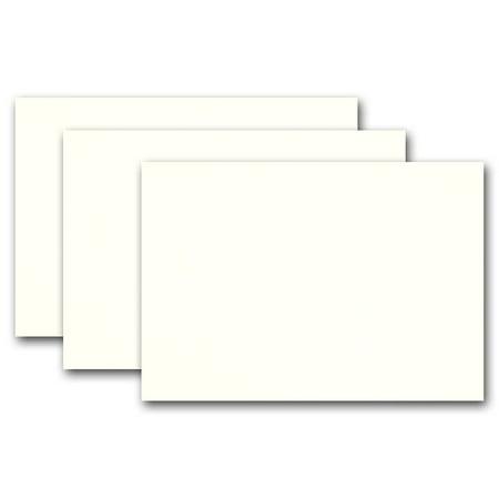 Ivory Flat Card - Blank Whip Cream Ivory 5x7 Flat Card Invitations - 50 Pack