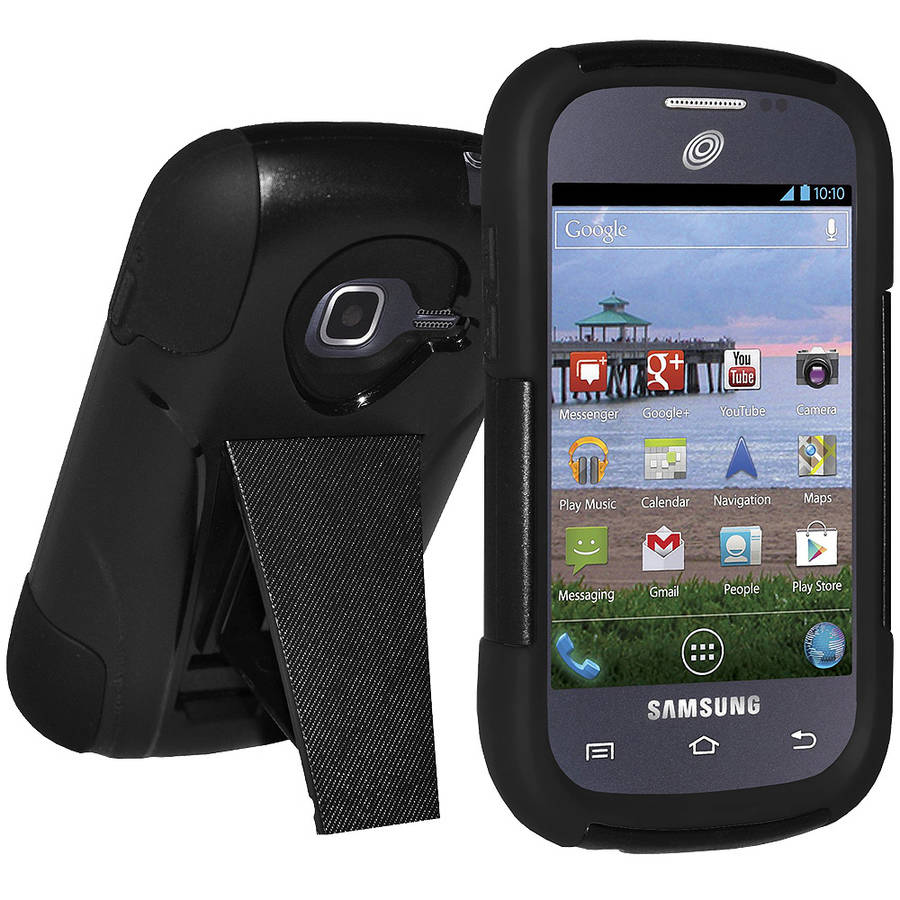 AMZER Double-Layer Hybrid Case with Kickstand for Samsung Galaxy Discover
