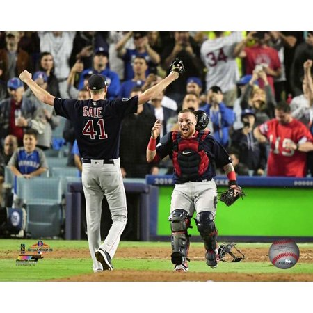 new style 65375 7fd7c Chris Sale & Christian Vazquez celebrate winning Game 5 of the 2018 World  Series Photo Print