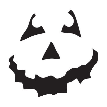 Halloween Shovel- Pumpkin Face Art Stencil- 6