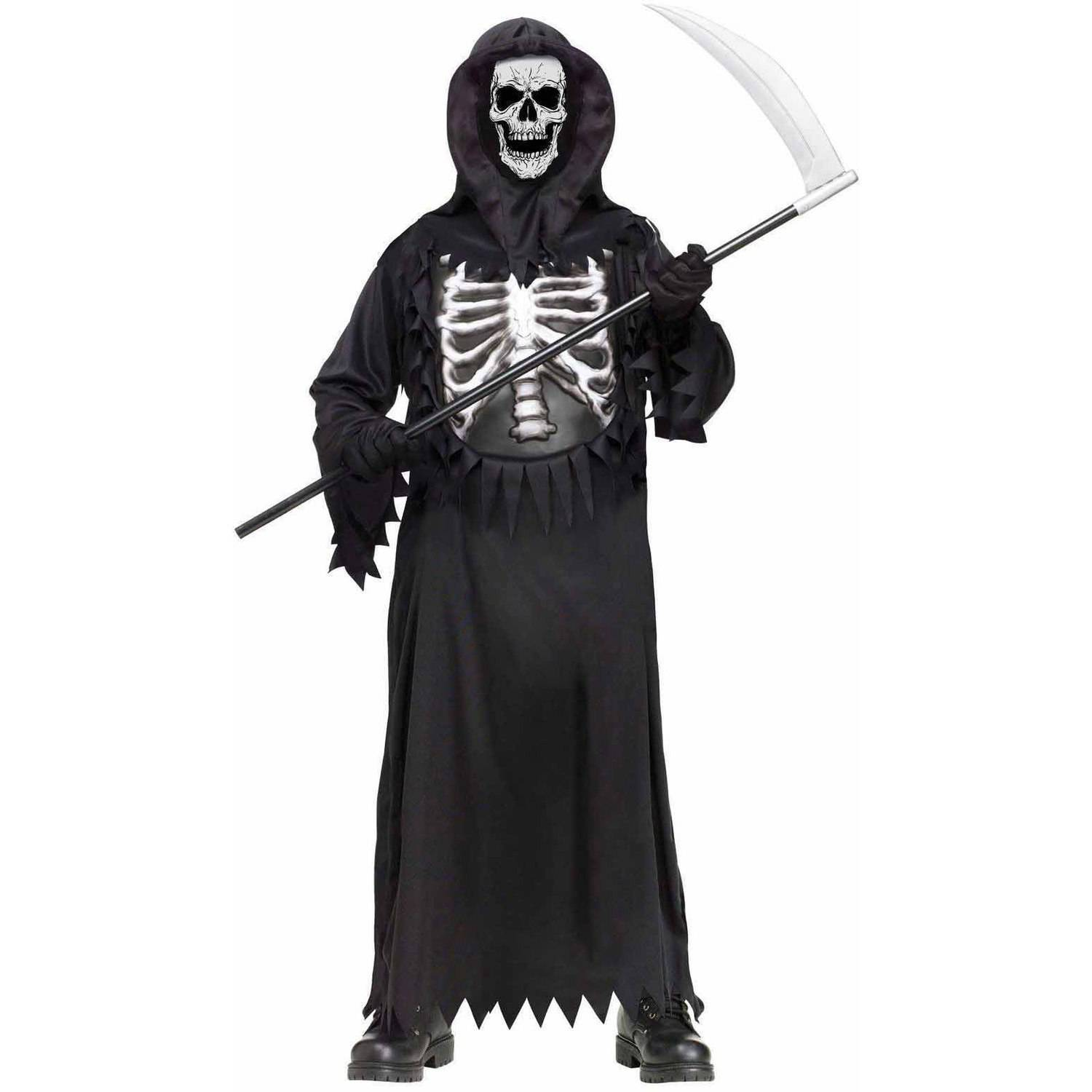 Glow Chest Reaper Boys' Child Halloween Costume