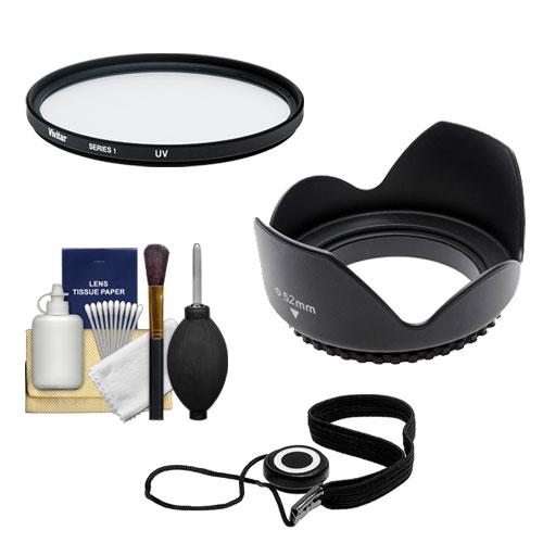 Essentials Bundle for Canon EF 40mm f/2.8 STM Pancake Lens with Filter + Lens Hood + Accessory Kit