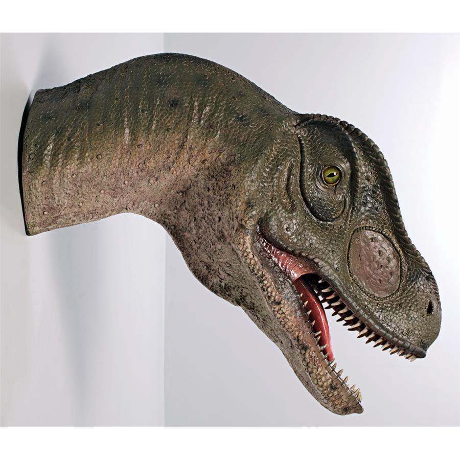 Giant Allosaurus Dinosaur Wall Trophy: Mouth Open