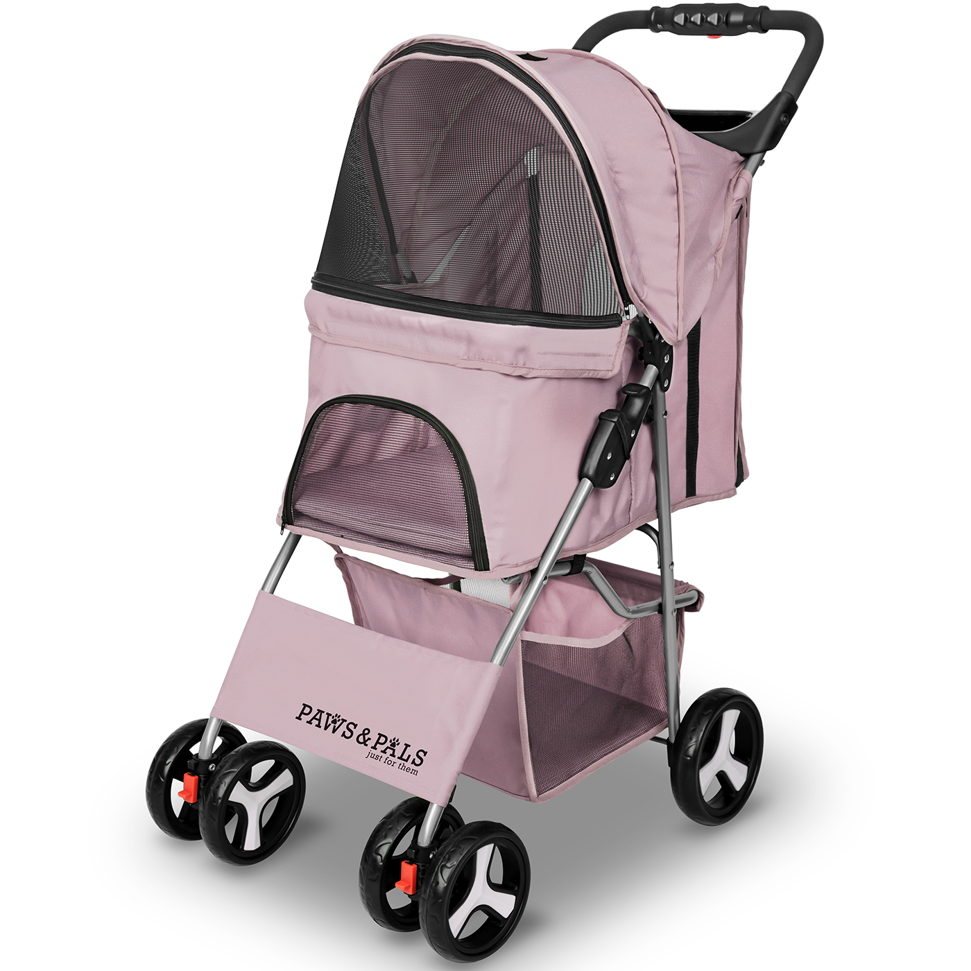 City Walk N Stride 4 Wheeler Pet Stroller for Dogs and Cats Paws & Pals