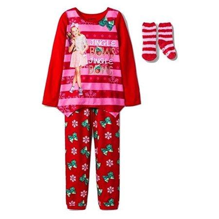 Jojo Christmas Sweater.Jojo Siwa Jingle Bows 2pc Christmas Pajama Set Medium