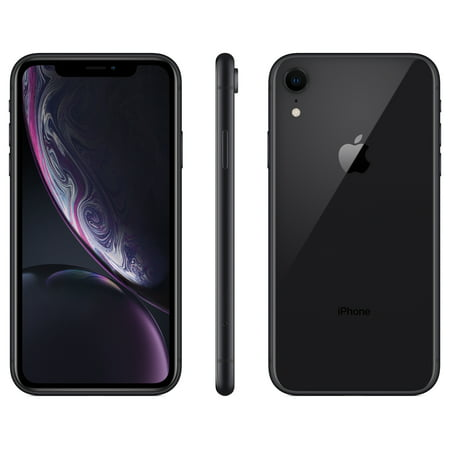 Walmart Family Mobile Apple iPhone XR, 64GB, Black- Prepaid Smartphone