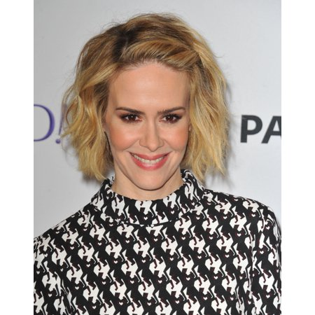 Sarah Paulson At Arrivals For 32Nd Annual Paleyfest Closing Night Presentation Fxs American Horror Story Freak Show Stretched Canvas -  (8 x 10) - Night Freak