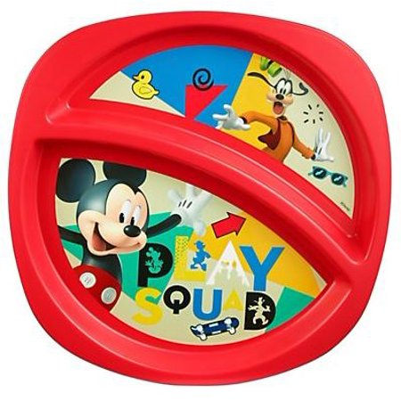 Disney Mickey Mouse Toddler Plate Sectioned Plate ()