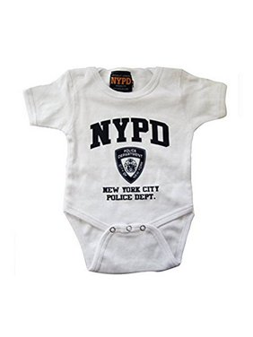 2e4867ac3e Product Image Nypd Infant Bodysuit White with Navy Chest Print