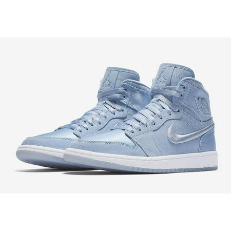 Womens Air Jordan 1 Retro High SOH Hydrogen Blue White Metallic Gold A