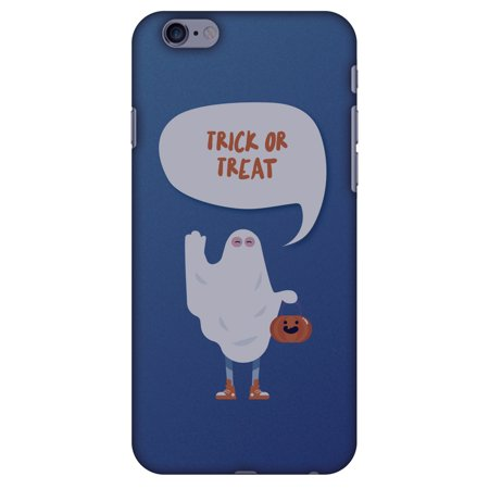 iPhone 6s Plus Case, iPhone 6 Plus Designer Case, Premium Handcrafted Printed Halloween Designer Hard ShockProof Case Back Cover for iPhone 6 Plus, iPhone 6s Plus - Trick Or Treat, White Ghost