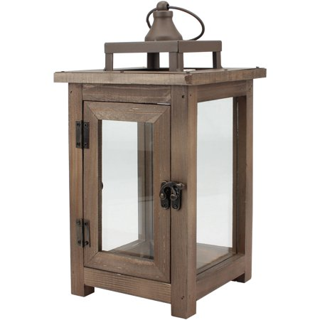 Better Homes & Gardens Medium Lantern, Farmhouse Rustic Finish - Rustic Mantel Decor