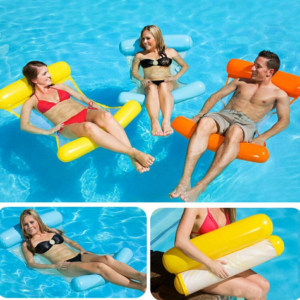 Durable Pool Floating Hammock Water Inflated Bed Pillow Mattress Party Fun Toy