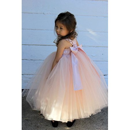 Ekidsbridal Blush Pink Sweetheart Neck Cotton Tutu Flower Girl Dresses Ball Gown Princess Dresses Formal Dress 171 - Dress Sweet 17