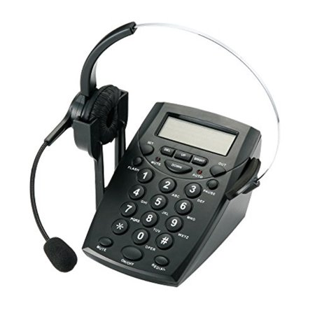 TelPal Corded Call Center Headset Telephone with Dialpad & Monoral Noise Cancelling Headphone HA0021, Wired Analog Home & OfficeTelephone Set (Connect A Landline Phone To A Computer)