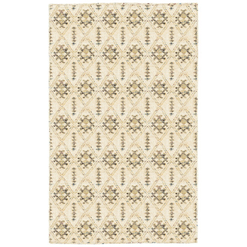LR Resources Rajani Cream Geometric Rug