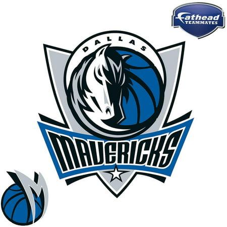 Logo Fathead Basketball - Fathead Dallas Mavericks Teammate Logo