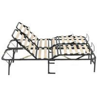 PragmaBed Simple Adjust Head and Foot Wood Slat Manually Adjustable Foundation