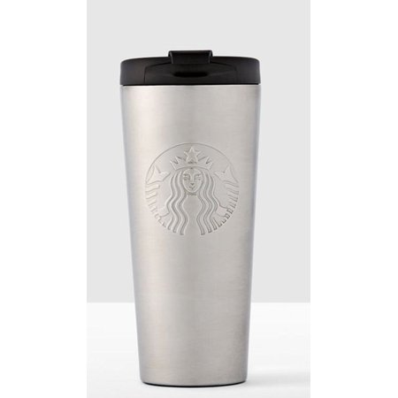 Starbucks Stainless Steel Tumbler Travel Cup with Flip Top Lid 16 oz