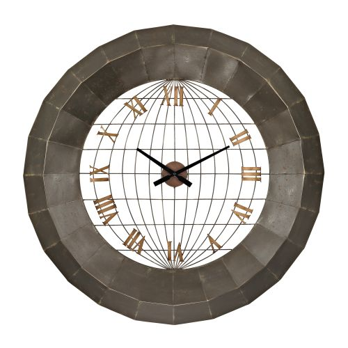 Sterling Industries 138-151 Oversized Metal Analog Wall Clock