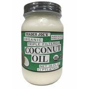 Trader Joe's Organic Triple Filtered Coconut Oil 16 FL OZ
