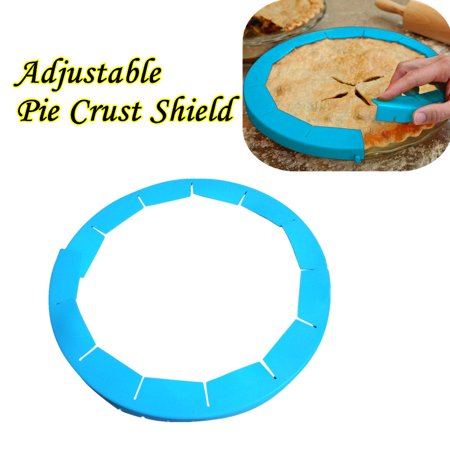 - BEAD BEE Adjustable Silicone Pie Crust Shield Silicone Fit 8.5-11.5Inch Rimmed Dish