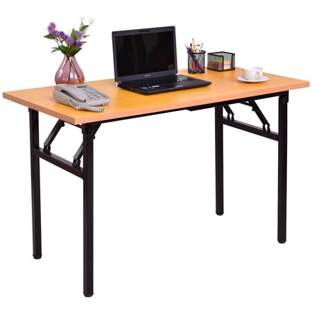 Costway Folding Computer Desk PC Laptop Table Writing Workstation Home Office Furniture