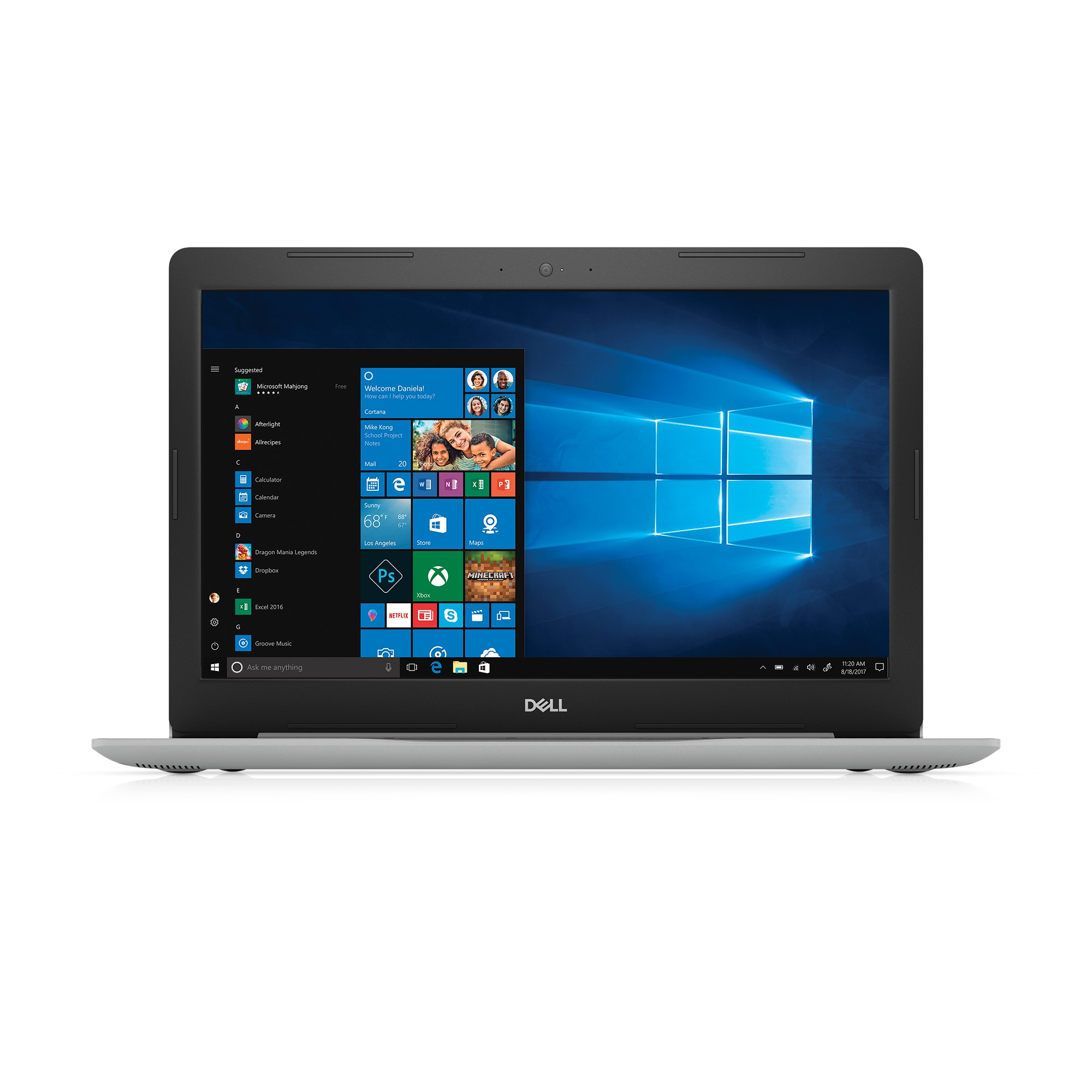 "Dell Inspiron 15 5000 Series Laptop, 15.6"" HD, Intel Core i7, 20GB Total Memory (4GB DRAM + 16GB Intel Optane Memory,) 1 TB HDD, Intel UHD Graphics 620, i5570-7987SLV"