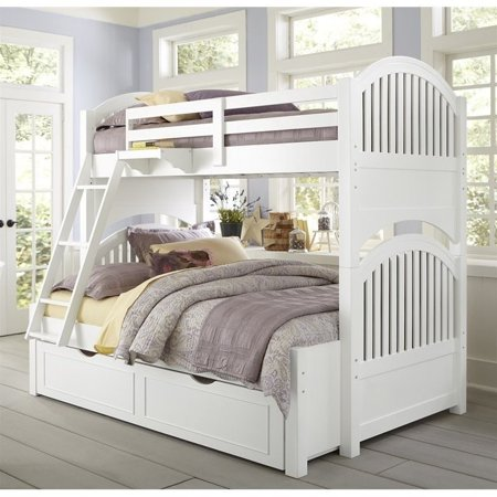 NE Kids Lake House Adrian Twin over Full Bunk with Trundle in White - image 2 de 2