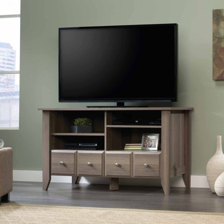 Sauder Shoal Creek Panel Diamond Ash TV Stand for TVs up to 42″