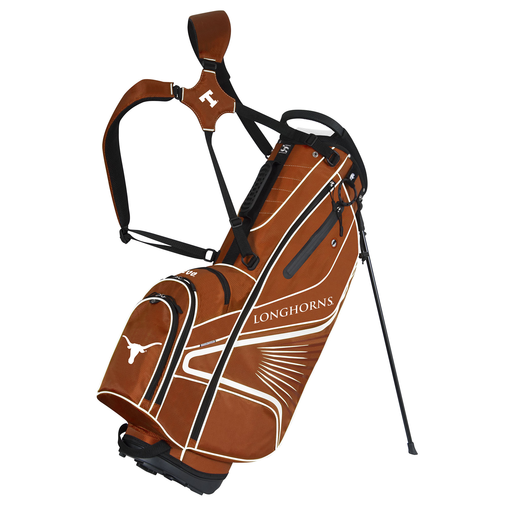 Team Effort Texas Longhorns GridIron III Stand Golf Bag