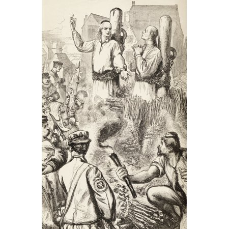 Hugh Latimer And Nicholas Ridley Being Burnt At The Stake 16 October 1555 At Oxford England Latimer Is Quoted As Having Said To Ridley Be Of Good Comfort Master Ridley And Play The Man We Shall This D - Funny Halloween Pics And Quotes