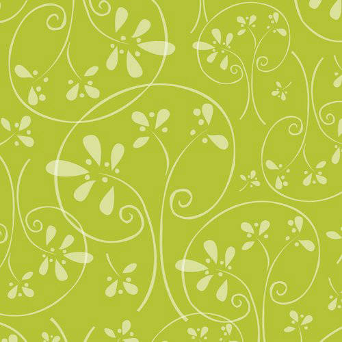 100% Cotton Fabric For Quilting And Crafting By Emma And Mila From The Hoot Hoot Collection: Swirls In Green