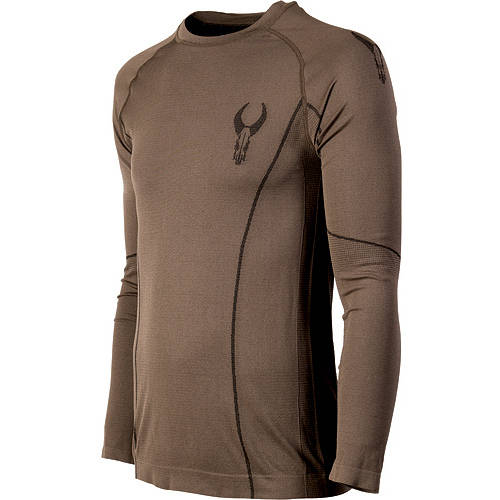 Badlands Latitude Base Layer Long Sleeve Crew (XL)- Brown by Badlands