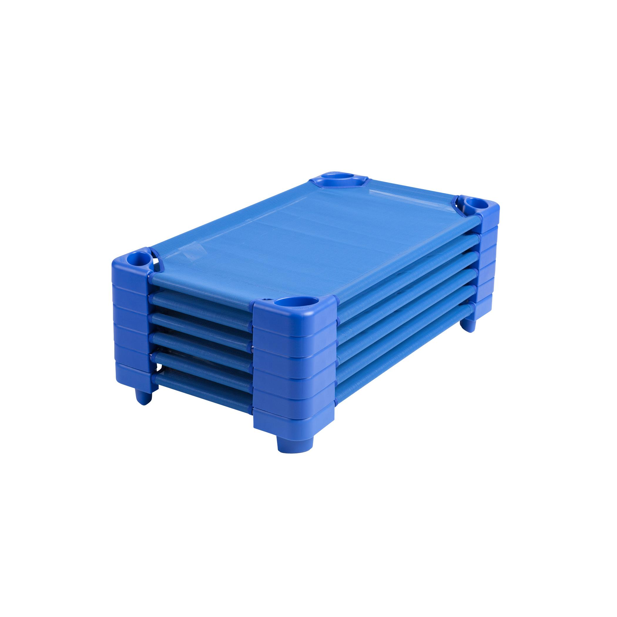 Click here to buy Stackable Kiddie Cot Standard Assembled-Color:Blue,Quantity:Set of 5 by ECR4Kids.