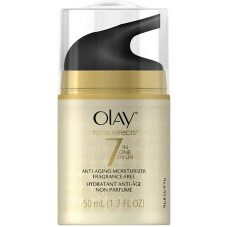 Olay Total Effects 7 In 1 Anti Aging Daily Moisturizer Fragrance Free 1 70 Oz  Pack Of 2