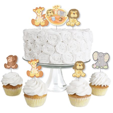 Noah's Ark - Dessert Cupcake Toppers - Baby Shower Clear Treat Picks - Set of (Noah's Ark Baby Shower Theme)