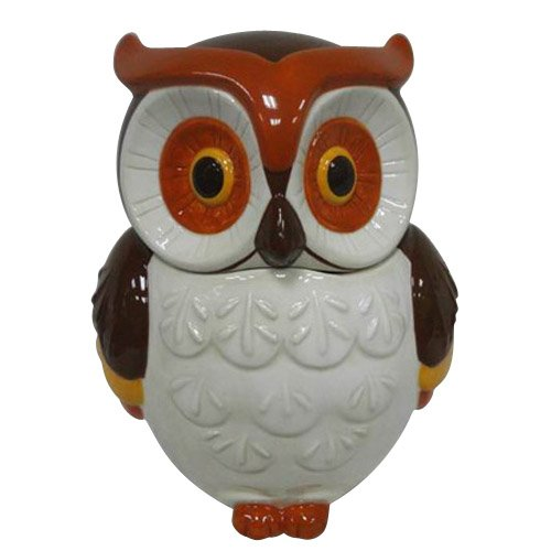 Better Homes And Gardens Owl Cookie Jar, White/Brown