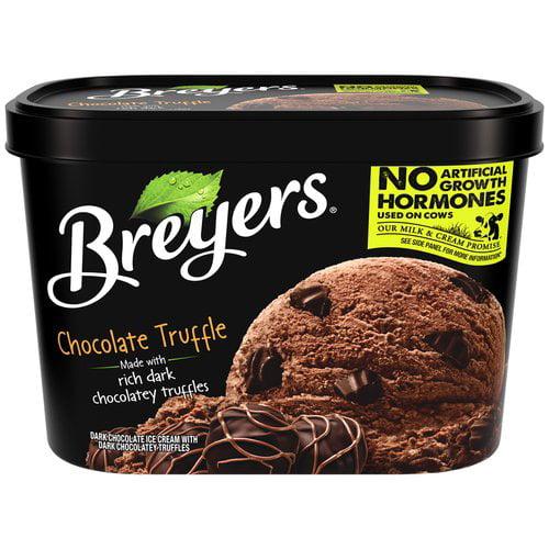 Breyers Chocolate Truffle Ice Cream 48 Oz Walmart Com