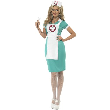 Vintage Nurse Adult Costume](Nurse Costume For Women)