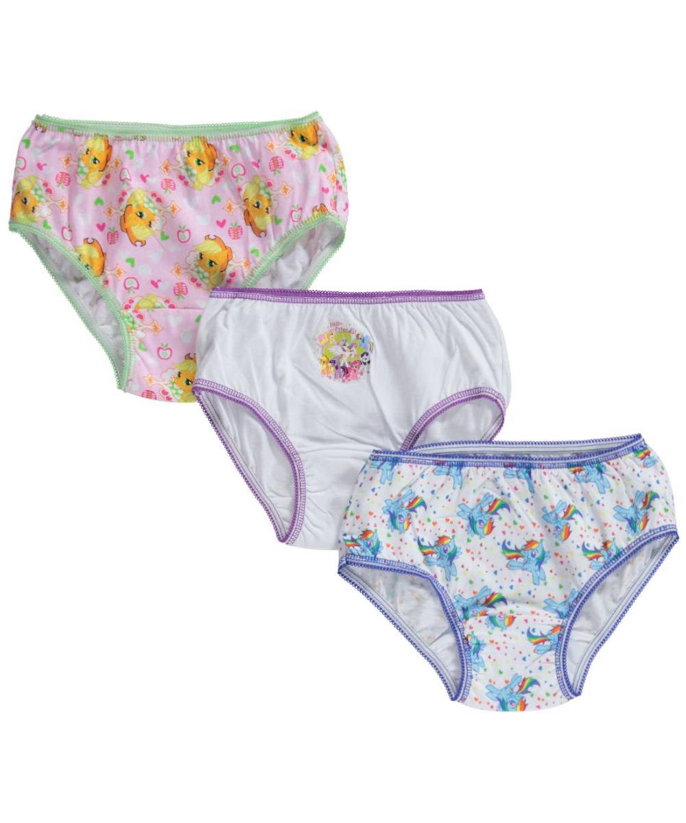 "Little Girls' ""Magic Manes"" 3-Pack Panties (Sizes 4 - 6X)"