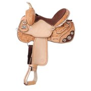 Lamar All Around Barrel Saddle by Silver Royal 13.5inch, Light Oil